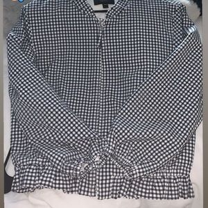 Pleated checkered jacket - worn once!
